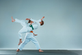 The boy fighting at Aikido training in martial arts school. Healthy lifestyle and sports concept - PhotoDune Item for Sale