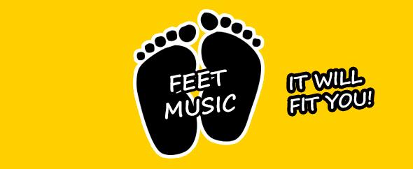 Feet music banner
