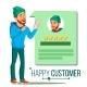 Happy Client Vector. Positive Testimonials - GraphicRiver Item for Sale
