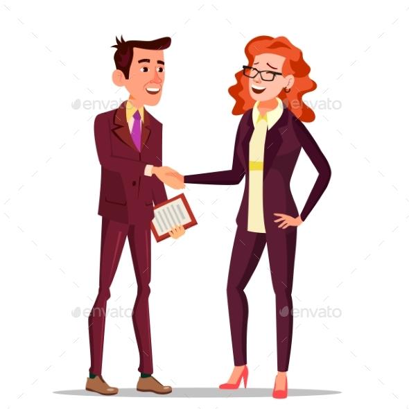 Happy Client Vector. Business Concept. Suit - Business Conceptual