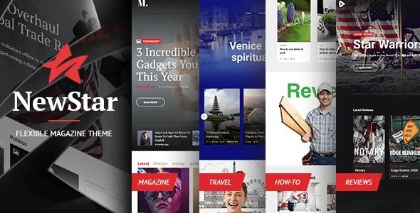 NewStar Magazine – Flexible Magazine Theme