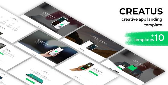 Image of Creatus app Landing Page