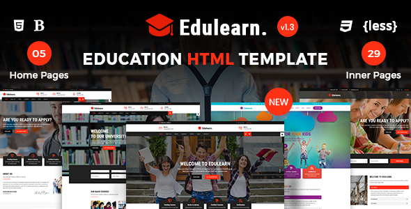 Image of Edulearn Education - Education HTML Template
