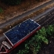 Aerial Video with a Truck Full of Grapes in the Middle of Vineyard - VideoHive Item for Sale