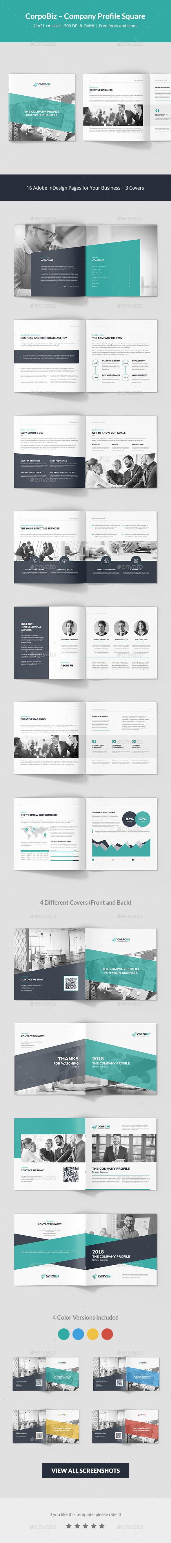 CorpoBiz – Business and Corporate Company Profile Square - Corporate Brochures