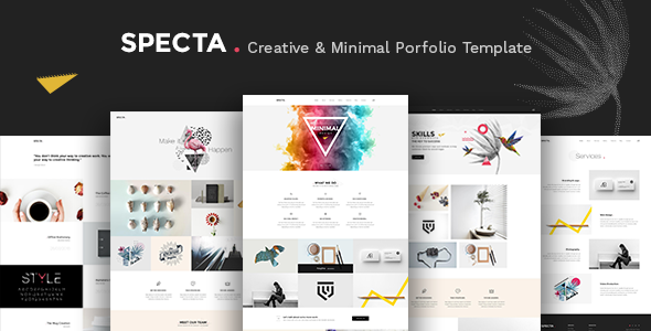 Specta – A Colorful and Modern Multipurpose  Portfolio Template