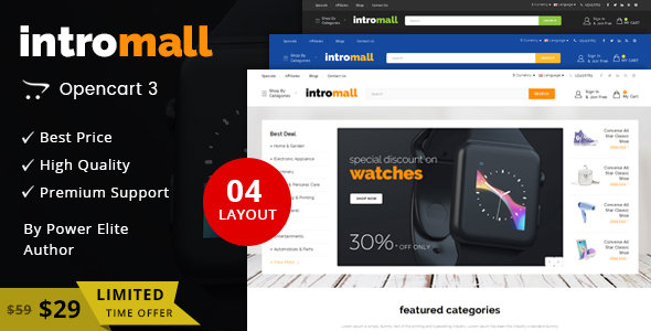 Intromall – Multipurpose OpenCart 3 Theme