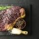 Marbling Ribeye Steak on Black Plate - VideoHive Item for Sale