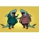 Businessman Shark Business Partnership