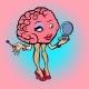 Character Brain Woman Makeup Eyelash