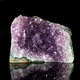 Amethyst rock on black reflective background. - PhotoDune Item for Sale
