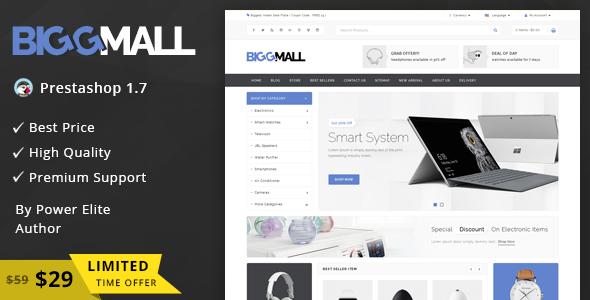 BiggMall – Responsive Prestashop 1.7 Theme