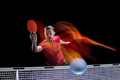 The table tennis player serving - PhotoDune Item for Sale