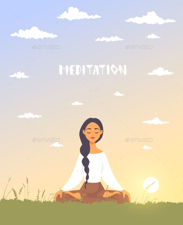 Meditation Dawn - People Characters