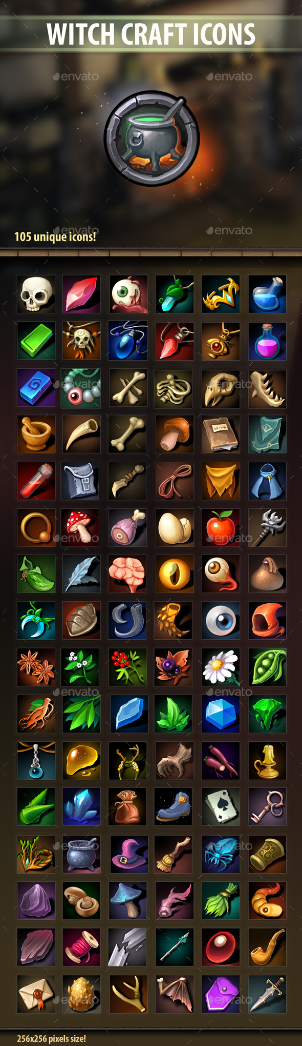 Witch Craft Icons - Miscellaneous Game Assets
