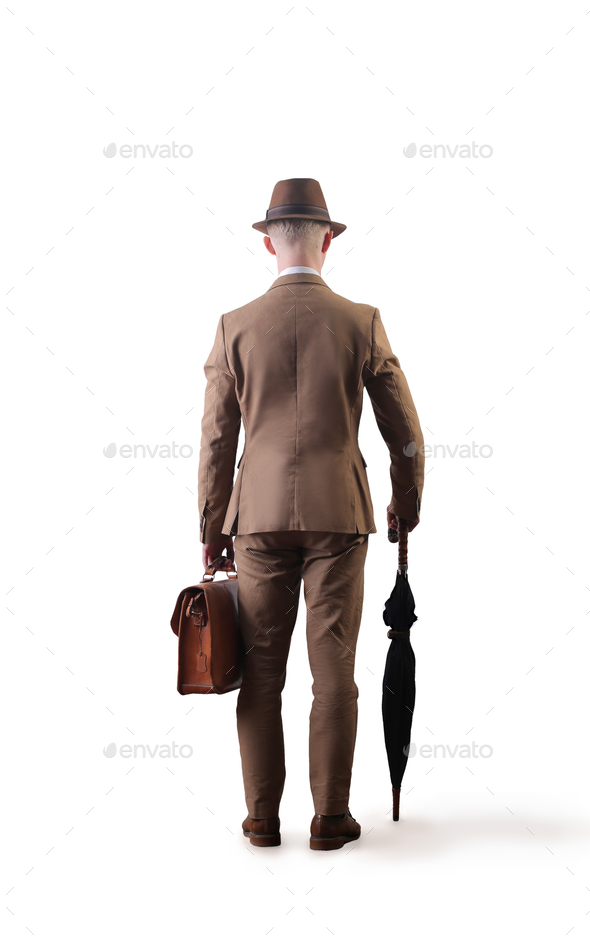 Elegant man from behind - Stock Photo - Images