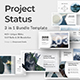Project Status 3 in 1 Powerpoint Bundle Template
