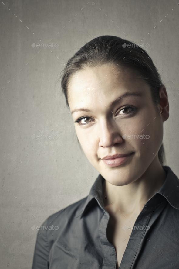 Portrait of a caucasian woman - Stock Photo - Images