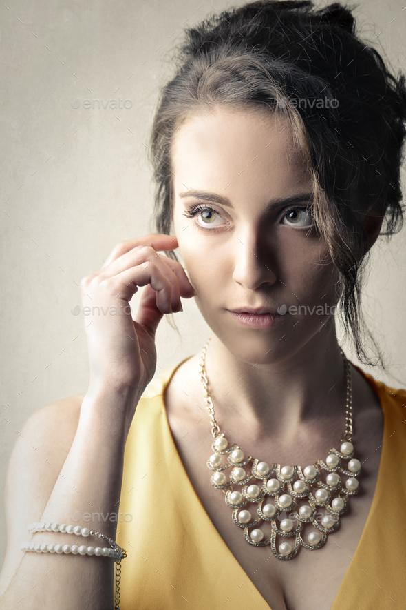 Portrait of an elegant woman - Stock Photo - Images