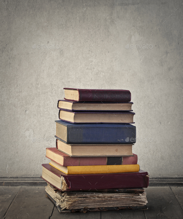 A lot of books - Stock Photo - Images