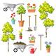 Set of Different Gardening Tools