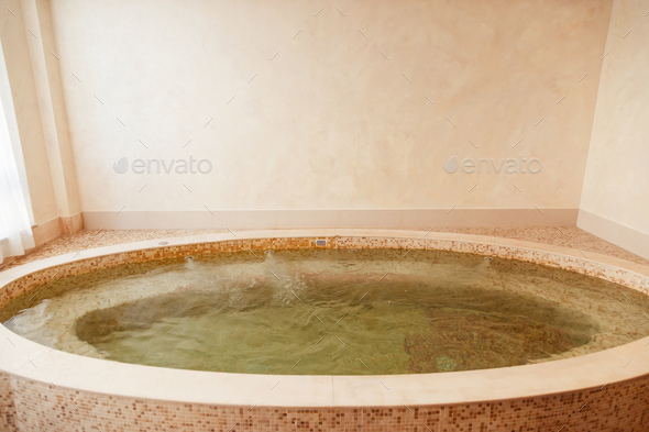Jacuzzi baths in hotel spa center - Stock Photo - Images