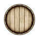 Wooden barrel isolated on white background, top view. 3d renderi - PhotoDune Item for Sale