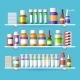 Medication Shelves for Drugstore - GraphicRiver Item for Sale
