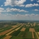 Aerial View of Agriculture Fields in Serbia