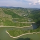 Aerial View of Meanders River Uvac in Serbia
