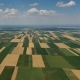 Aerial Landscape Multicolor Agriculture Fields