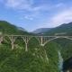 View on Djurdjevica Arch Bridge Over Tara