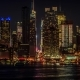 Night of Midtown Manhattan Skyscrapers Skyline, As Viewed From Weehawken - VideoHive Item for Sale