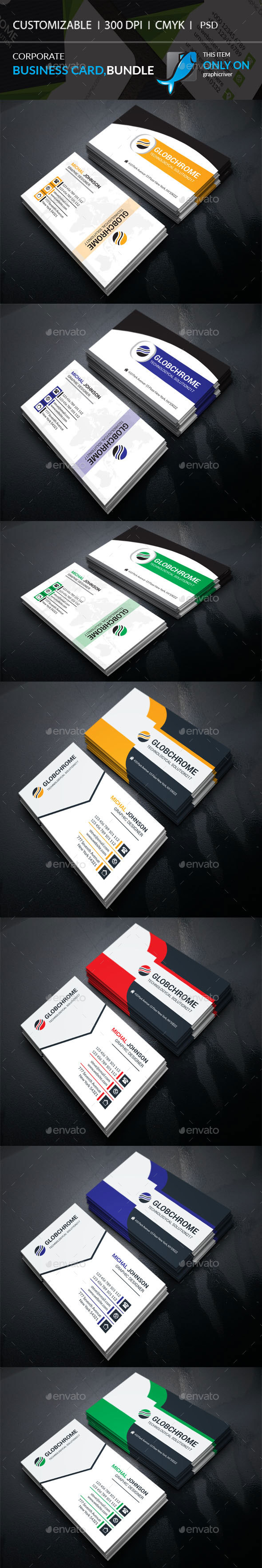 Corporate Business Card Bundle - Corporate Business Cards