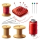 Vector Realistic Set of Sewing Supplies