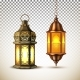 Vector Ramadan Kareem Lamp Lantern Realistic
