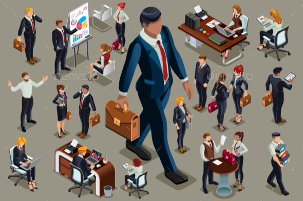 Executive People Isometric - People Characters