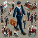 Executive People Isometric - GraphicRiver Item for Sale