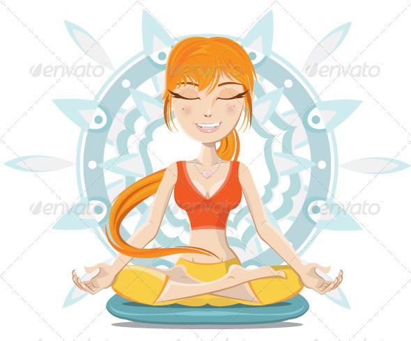 Meditation - Characters Vectors