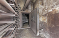 An open protective door in an underground communication tunnel - PhotoDune Item for Sale
