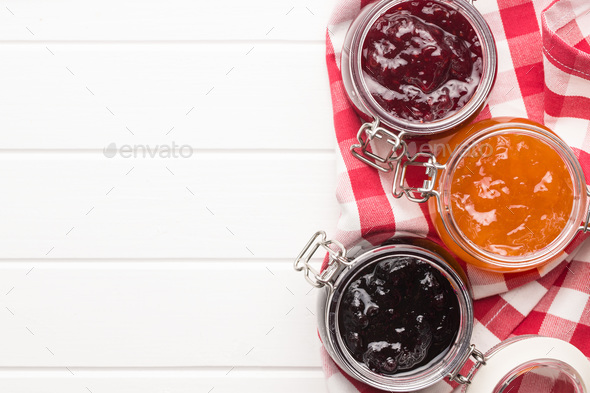 Tasty fruity jam. - Stock Photo - Images