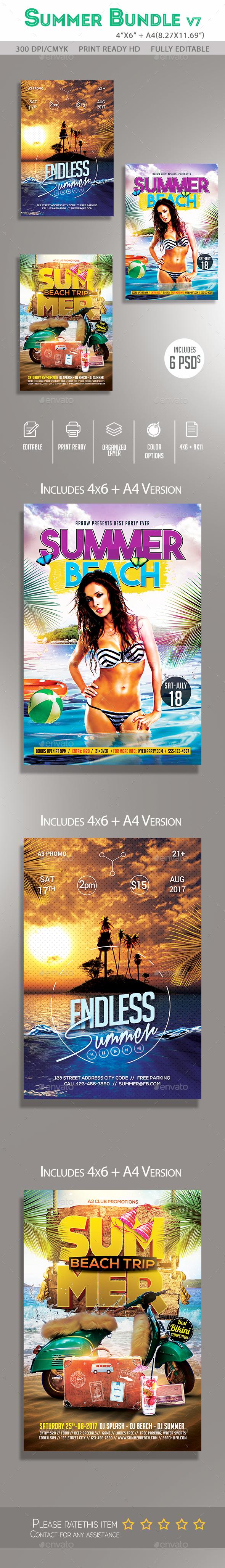 Summer Flyer Bundle v7 - Clubs & Parties Events