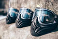 Paintball masks with glasses closeup, nobody - PhotoDune Item for Sale