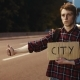 Traveler, Young Man Hitchhiking with Sign on the Road at Night - VideoHive Item for Sale