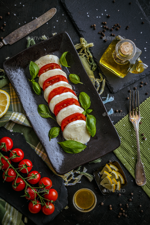 Delicious caprese salad - Stock Photo - Images