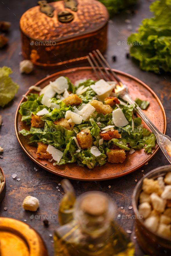 Fresh caesar salad - Stock Photo - Images