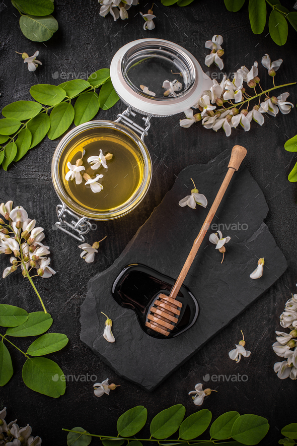 Composition with honey - Stock Photo - Images