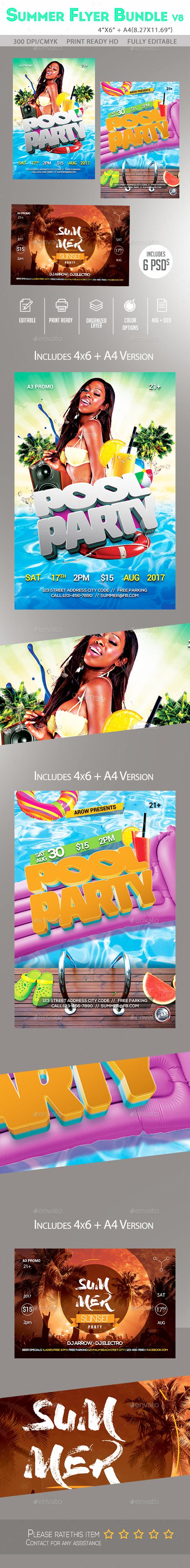 Summer Flyer Bundle v8 - Clubs & Parties Events