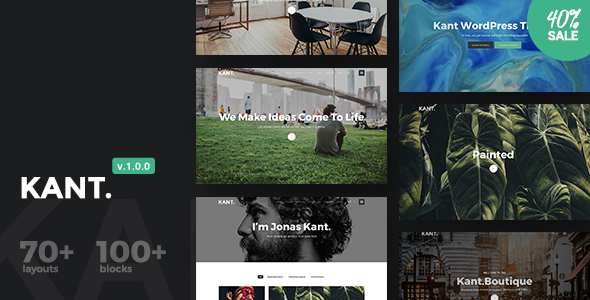 Kant – A Multipurpose WordPress Theme for Startups, Creatives and Freelancers