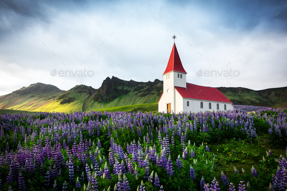 Lutheran Myrdal church - Stock Photo - Images